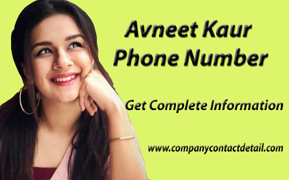 Avneet Kaur Phone Number