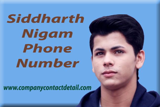 Siddharth Nigam Phone Number