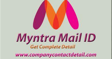 Myntra Mail ID