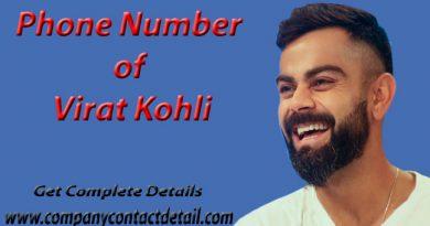 Phone Number of Virat Kohli