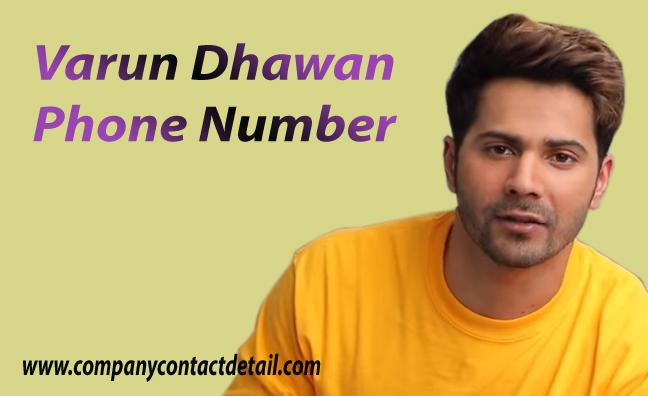 Varun Dhawan Phone