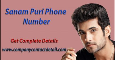 Sanam Puri Phone Number