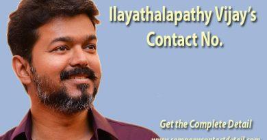 Ilayathalapathy Vijay's Contact No.