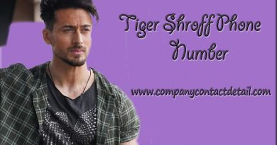Phone Number of Tiger Shroff